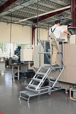 Escalera de plataforma con altura graduable for Escaleras con plataforma precios