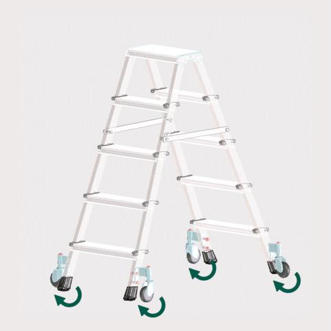 Accesorios: Ruedas para escaleras de tijera