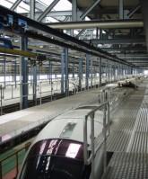 Grada mantenimiento auto ajustable techo trenes